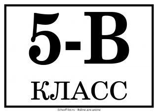 5-В класс - табличка на линейку