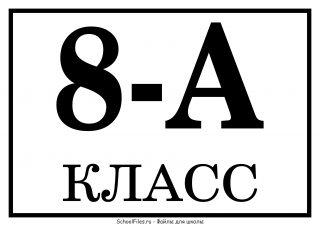 "8 ""А"" класс"