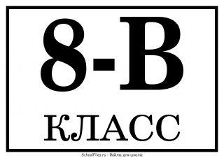 """8 """"В"""" класс"""